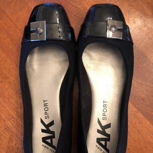 Anne Klein Sport Black Ballet Flats with Patent 8